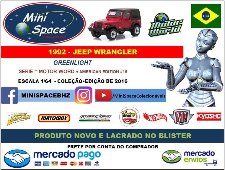Greenlight 1992 Jeep Wrangler 1/64