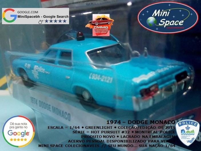 Greenlight 1974 Dodge Monaco Polícia 1/64